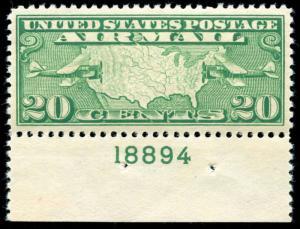 momen: US Stamps #C9 Mint OG NH PSE Graded XF-SUP 95