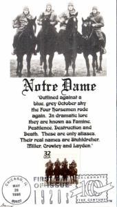 3184l Four Horsemen - Notre Dame Artcraft FDC / HipStamp