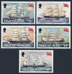 Isle of Man 254-258,MNH.Michel 250-254. Karran Fleet,1984.Max King,Hope,Sumatra,