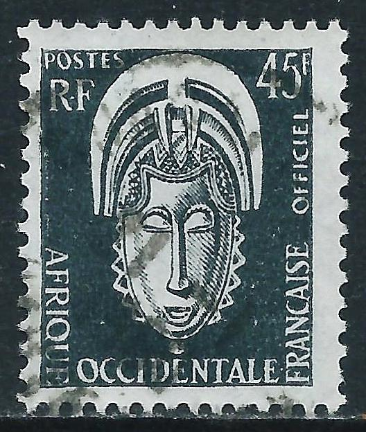 French West Africa, Sc #O8, 45fr Used