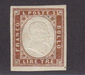 Sardinia Scott # 15 XF mint OG lightly hinged nice color cv $ 425 ! see pic !