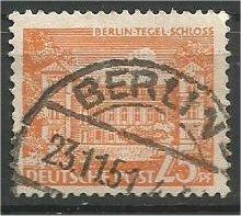 BERLIN, 1949, used 25pf Buildings Scott 9N50