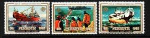 Penrhyn MNH 228-30 World Communications Year Ships 1983