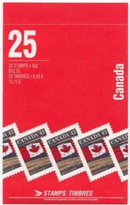 Canada #BK 154Af 43c Flag Pane of 25 - Mint VF-NH