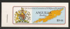 Anguilla 315-8 1978 25th Coronation Booklet MNH