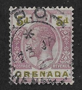 GRENADA SC# 102  FVF/U 1922