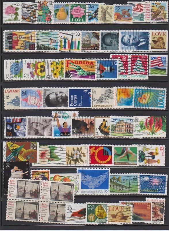 LOT OF DIFFERENT STAMPS OF USA USED (61) LOT#US275