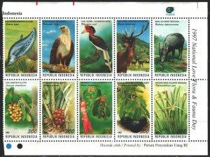 Indonesia. 1997. 1732-41. Fauna and Flora of Indonesia. MNH.