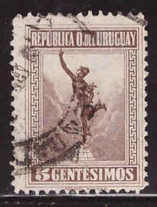 Uruguay Scott 247 Used Chocolate Brown Mercury stamp 1922