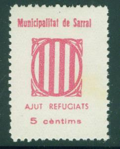 SPAIN Civil War Republic Sarral GG 1222