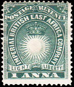 British East Africa Scott 15 Unused lightly hinged.
