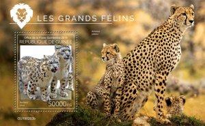 GUINEA - 2019 - Big Cats - Perf Souv Sheet - M N H