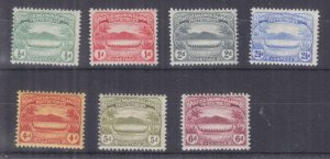SOLOMON ISLANDS, 1908 Small Canoes, set of 7 to 6d., lhm.