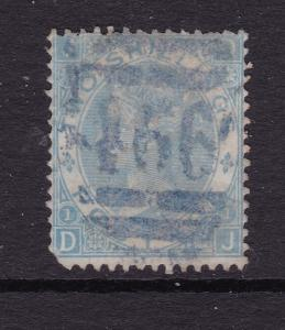 Great Britain a used QV 2/- from 1865