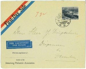93718 - DUTCH INDIES Indonesia - POSTAL HISTORY - FDC COVER 1938 Garoet AVIATION