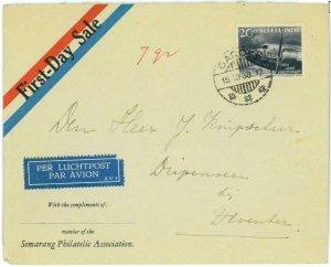 93718 - DUTCH INDIES Indonesia - POSTAL HISTORY - FDC COVER 1938 Garoet AVIATION
