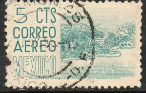 MEXICO C208, 5cts 1950 Definitive 2nd Printing wmk 300 HORIZ. USED. F-VF. (903)