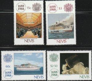 Nevis,  #571-574 Unused From 1988