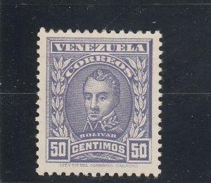 Venezuela  Scott#  254  MH  (1911 Bolivar)