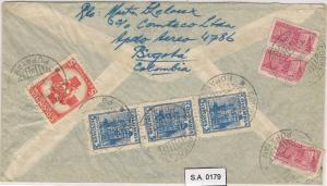 RED CROSS - POSTAL HISTORY : COLOMBIA - AIRMAIL COVER to HOLLAND 1949