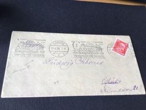Coburg 1928 Illustrated slogan cancel stamps cover Ref R28696