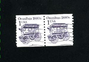 USA #2225  2 used  pair 1986-87 PD .12