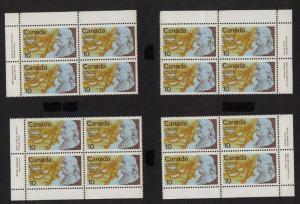 Canada - 1976 10c Benjamin Franklin Plate Blocks mint #691