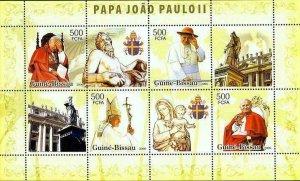 Pope John Paul II Stamp Vatican Statue Art Virgen S/S MNH #3436-3439