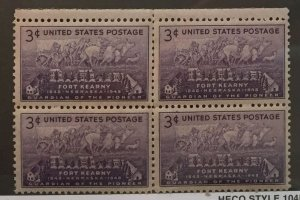 US #970 (MNHOG) [Block Mint No Hinge Original Gum] Fort Kearny