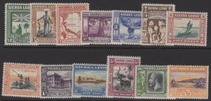 SIERRA LEONE SG168/80 1933 WILBERFORCE LIGHTLY MTD MINT