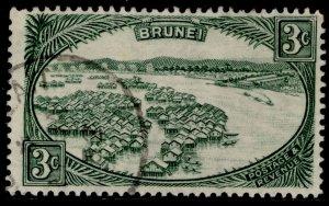BRUNEI GVI SG81, 3c green, FINE USED. CDS