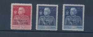 1925-26 Somalia - N° 67/69,Jubilee Del Re, 3 Values, Jagged Edges 11, C