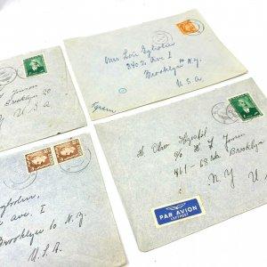 Feda & Nymark Norway > Brooklyn NY 1950s 4 airmail covers