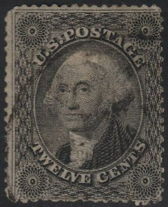 US Scott # 36B 12c Washington Used / Light Cancel