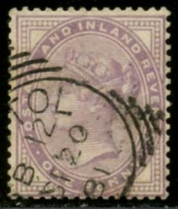 GREAT BRITAIN Sc#88 SG170 1881 1p lilac 14 dots Die II Used