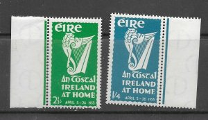 Ireland 147-8 MNH cpl. set vf, 2020 CV $27.25
