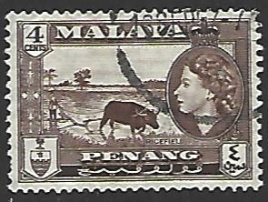 Malaya Penang #47 Used Single Stamp