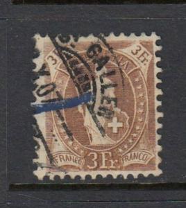 Swiss #111 3FR Standing Helvetia (USED) cv$110.00