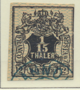 Hanover (German State) Stamp Scott #13, Used - Free U.S. Shipping, Free World...