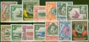 KUT 1935 set of 14 SG110-123 Fine Lightly Mtd Mint