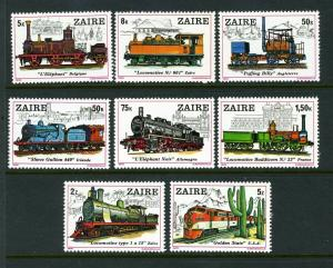 ZAIRE TRAINS #935-42  clean -nice (MINT Never Hinged)  cv$11.00