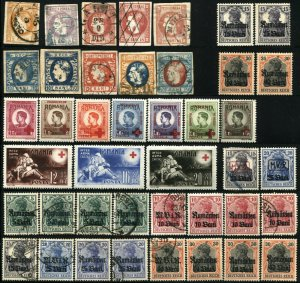 Early Romania Stamps Postage Collection Occupation Semi-Postal Mint LH Used