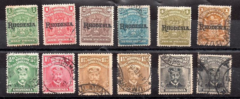 Rhodesia BSAC 1909-1913 d'occasion KGV collection WS6047
