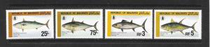 FISH  - MALDIVES #1130-33  MNH