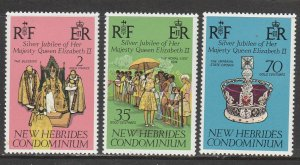 New Hebrides  / Vanuatu    214-16   (N**)     (1977)      Complet