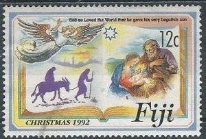 Fiji 676 (used) 12c Christmas: God so loved the world (1992)