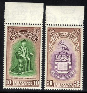 British Honduras 1951 KGV1 Set Inaug BWI College Umm SG 176 - 177 ( J769 )