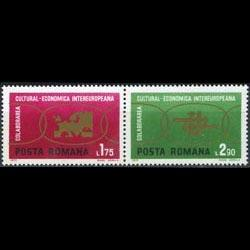 ROMANIA 1972 - Scott# 2327-8 Cooperation Set of 2 NH