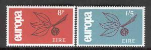 IRELAND MNH 204-205 EUROPA 1965