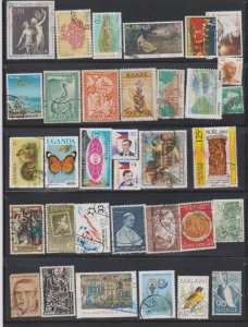 LOT OF DIFFERENT STAMPS OF THE WORLD USED (34) LOT#122